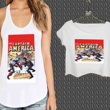 captain america winter soldier For Woman Tank Top , Man Tank Top / Crop Shirt, Sexy Shirt,Cropped Shirt,Crop Tshirt Women,Crop Shirt Women S, M, L, XL, 2XL**
