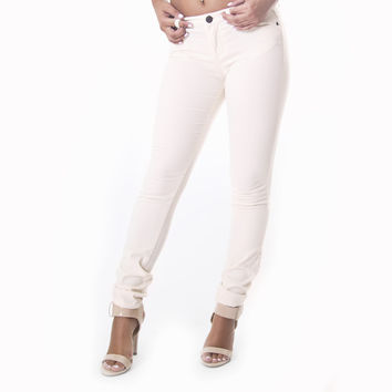 Classic Skinny Pants In Cream