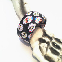 Novelty Day of the Dead Bracelet Día de los Muertos Jewelry, Sugar Skull Jewelry,