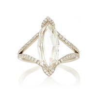 Octagonal Marquise Rose Cut Diamond Ring | Moda Operandi