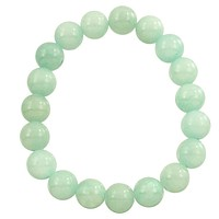 Natural Stone Stretch Bracelet in Aqua Jade