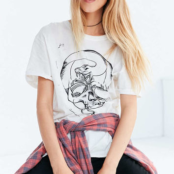 Silence + Noise Skull And Snake Tee - Urban Outfitters