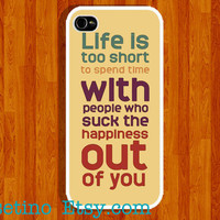 life is short Quote, iPhone Case , iPhone 5 Case , iPhone 4 Case , iphone 4s case , Plastic hard case , color text
