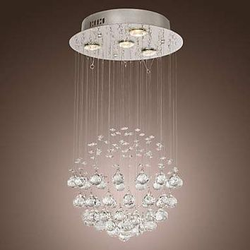 K9 Modern Crystal Chandelier Ceiling with 4 Lamps in Globe Shape, Lustres De Cristal,Lustre De crystal  Free Shipping