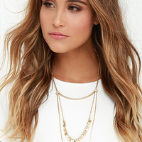 Tidal Wave Gold Layered Necklace