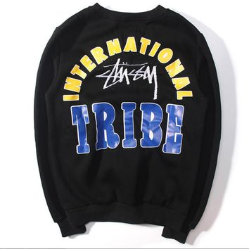 Tide brand new autumn and winter plus velvet men and women sweater hip-hop street sweater