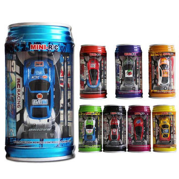 Coke Can Mini Speed RC Radio Remote Control Micro Racing Car Toy Gift Random Color