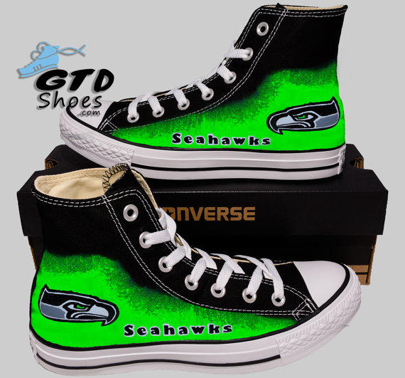0a3a5bec38a52b Hand Painted Converse Hi Sneakers. from Genuine Touch Designs