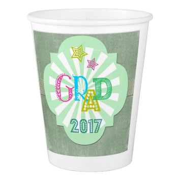 Grad 2017 Paper Cup for party celebrations!