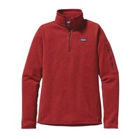 Patagonia Women's Better Sweater® 1/4-Zip Fleece Pullover | Cochineal Red