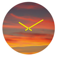 Shannon Clark Fire in the Sky Round Clock