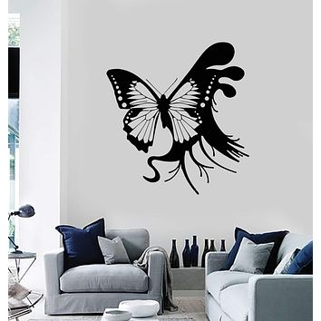 Vinyl Wall Decal Abstract Beautiful Butterfly Art Room Decor Stickers Unique Gift (ig2801)
