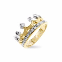 Two Tone Crown Ring