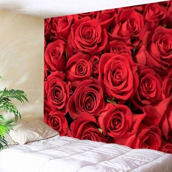 Valentines Day Roses Print Wall Tapestry🌹❤️