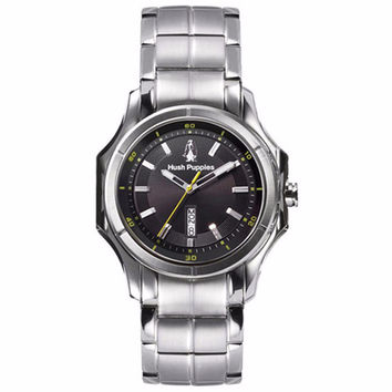 HUSH PUPPIES MEN'S DARK DIAL STAILESS STEEL WATCH HP.3629M.1502