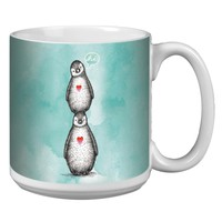 Penguin Hi Teal Jumbo Mug - Premium 20 oz Ceramic Coffee Tea  & Soup Mug