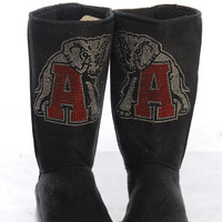 Women's University of Alabama Roll Tide Crystal Boots