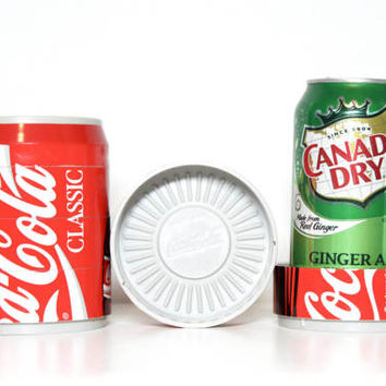 Vintage 90s Coca Cola Puzzle Can Coasters, Set of 6   1990s 1995 Coke Decor Man Cave Kitchen Gift Soda Pop Collectible Gift