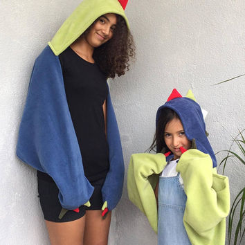 Animal Hooded Scarf, Dino Hooded Scarf, Dino Kid Scarf, Halloween Costume, Hooded Cowl, Kids Dino Scoodie, Hoodie Costume, Back To School