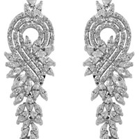 Delphina Vintage Cluster Dangle Chandelier Earrings | Cubic Zirconia