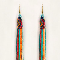 Long Fringe Earrings- Sherbert