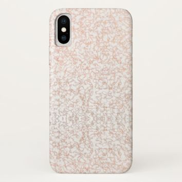 Marble Gold Lace Pattern iPhone Case