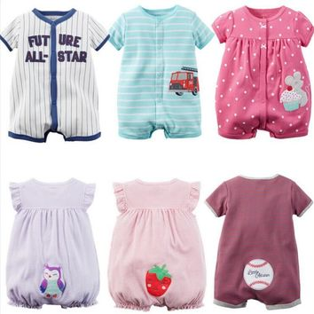 Baby Bodysuits rompers short sleeve overall cotton