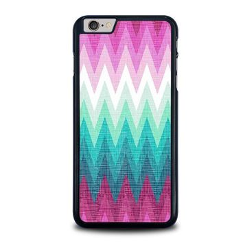 ombre pastel chevron pattern iphone 6 6s plus case cover  number 1