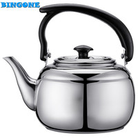 High Quality 17cm x 11cm 1000ML Stainless Steel Teapot Coffee Sliver 33oz Cold Water Pot Kettle Home Kitchen Tea Tool -35