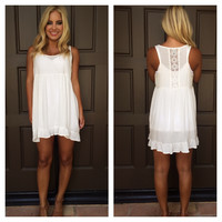 Lily Of The Field Baby Doll Dress - WHITE
