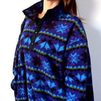 LL Bean Snowflake Fleece 80's Vintage from TheVelvetMoon on