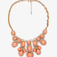 Bejeweled Rhinestoned Bib Necklace | FOREVER 21 - 1041922591