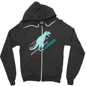 ask me about dinosaurs Zipper Hoodie