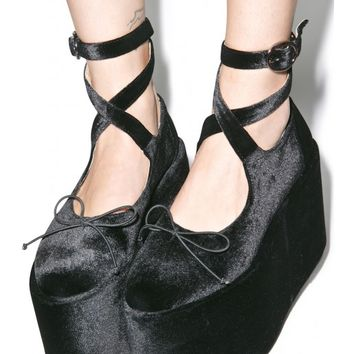 Sugarbaby Ballet Bopper Noir Platforms | Dolls Kill