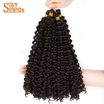 Silky Strands Curly Crochet Hair Extension Bohemian Afro Kanekalon Synthetic 14inch