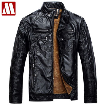 Mens Leather Jackets and Coats Pu Leather Jacket Man Men's Winter Leather Jacket