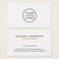 Custom logo business cards - any color background