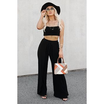 Lotta Love Two Piece Set (Black)