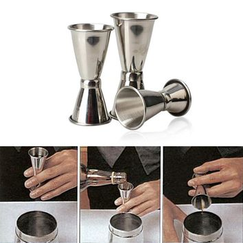 3PCS/set Stainless Steel Cocktail Drink Mixer Measuring Cup Jigger Measurer Set Bar Tools Wine Pourers