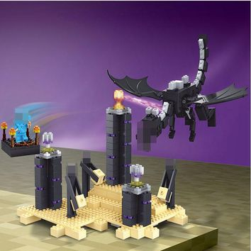 Mailackers 10178 Legoing Minecrafted Ender Dragon 634Pcs Bricks Set Building Blocks Toys For Children Minecrafte Legoing