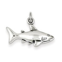 Antique Shark Charm in Sterling Silver
