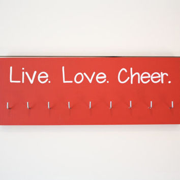 Live. Love. Cheer. Medal Holder - Medium