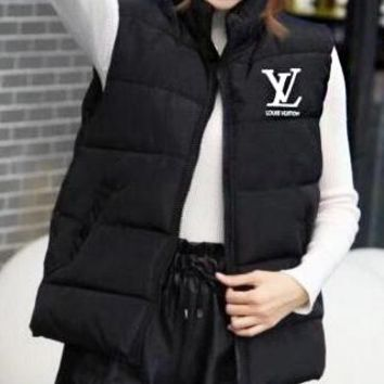 LV Louis Vuitton Autumn Winter New Fashion Women Casual Print Vest Waistcoat Cardigan Jacket Coat Black