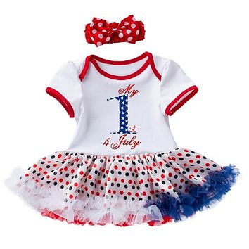 My 1st Fourth of July 2PC Dress Set