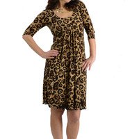 Larrivo Ying Cheetah Print Maternity and Nursing Dress