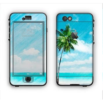 The Paradise Beach Palm Tree Apple iPhone 6 Plus LifeProof Nuud Case Skin Set