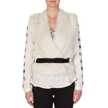 Joseph Cream Ambre Long Hair Toscana Fur Gilet