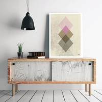 Abstract art Triangles Poster Geometric art poster Minimal Modern Scandinavian Nordic Style Abstract Digital poster print INSTANT DOWNLOAD.