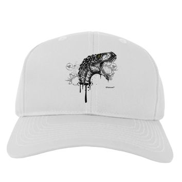 Artistic Ink Style Dinosaur Head Design Adult Baseball Cap Hat by TooLoud