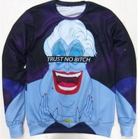 Dmart7dealUnisex Hoodies Women Men Trust No Bitch Ursula Sweatshirt 3d print funny cartoon jumper tops pullover Sweats plus size S-3XL